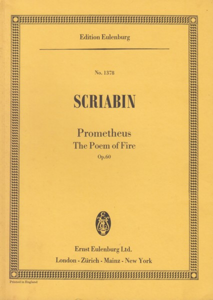 Prometheus, The Poem of Fire, Op.60 - Study Score