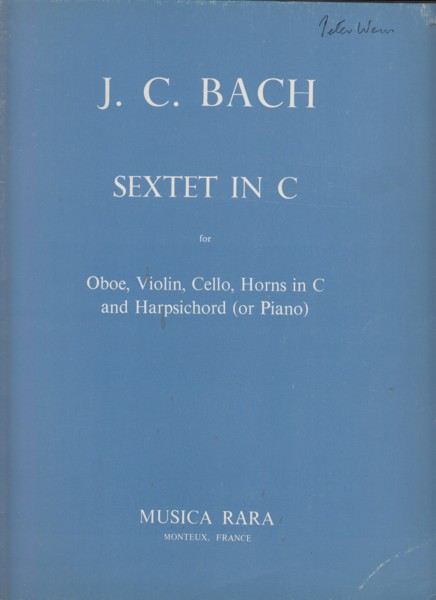 Image for Sextet in C major for Oboe, Violin, Cello, Horns in C and Harpsichord (or Piano) - Score & Parts