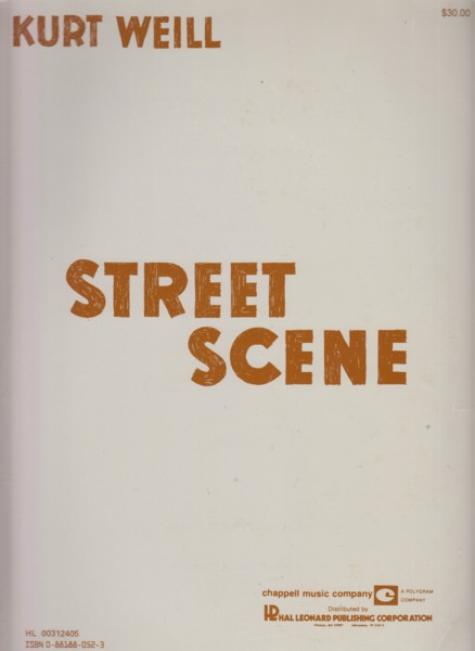 Image for Street Scene, An American Opera - Vocal Score