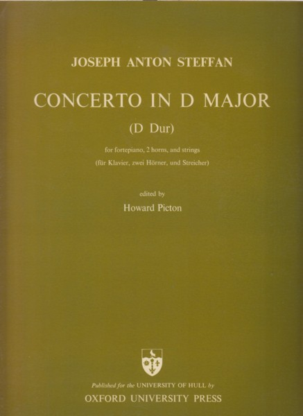 Concerto in D major for Fortepiano, 2 Horns and Strings - Full Score