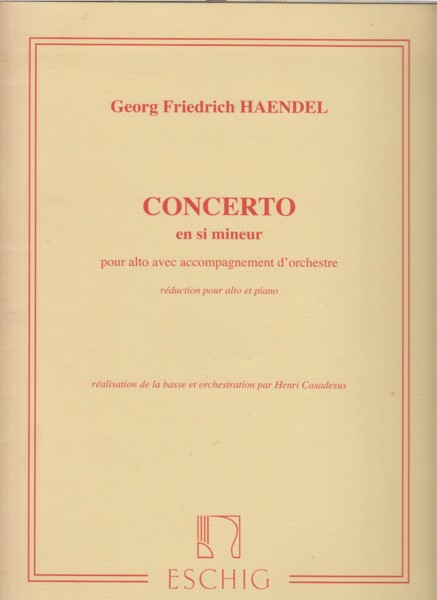 Image for Concerto in b minor for Viola and Orchestra - Viola & Piano