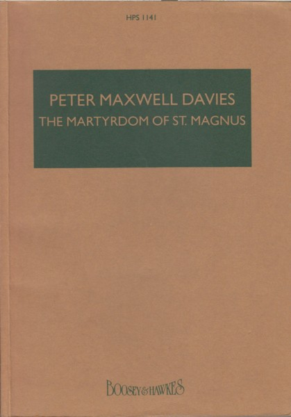Image for The Martyrdom of St.Magnus - Study Score