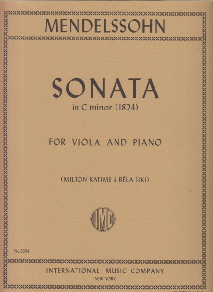 Image for Sonata in c minor (1824) for Viola and Piano