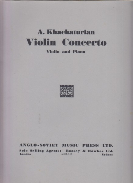 Image for Violin Concerto - Violin & Piano