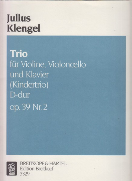 Image for Piano Trio in D major, Op.39 No.2 (Kindertrio) - Set of  Parts