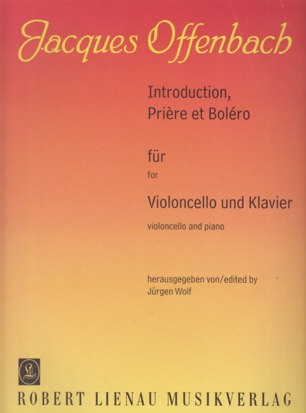 Image for Introduction, Prière et Boléro for Cello & Piano