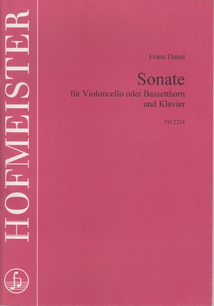 Image for Sonata for Cello (or Bassetthorn) and Piano