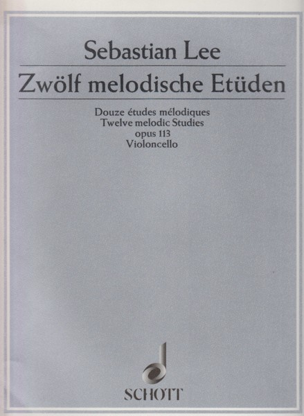 Image for Twelve Melodic Studies, Op.113 for Cello