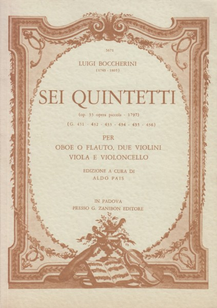 Image for Six Quintets, Op.55 - Study Score