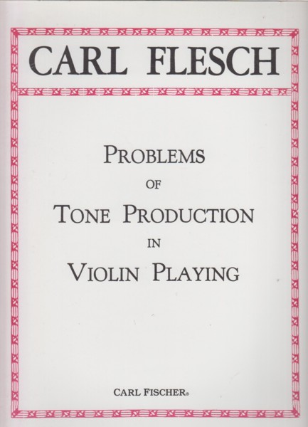 Image for Problems of Tone Production in Violin Playing