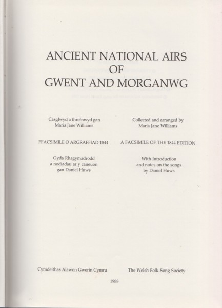 Image for Ancient National Airs of Gwent and Morganwg