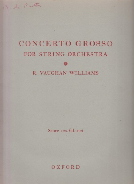 Image for Concerto Grosso for String Orchestra - Full Score