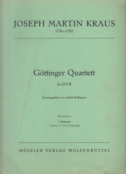 Image for Göttinger String Quartet in A major - Set of Parts