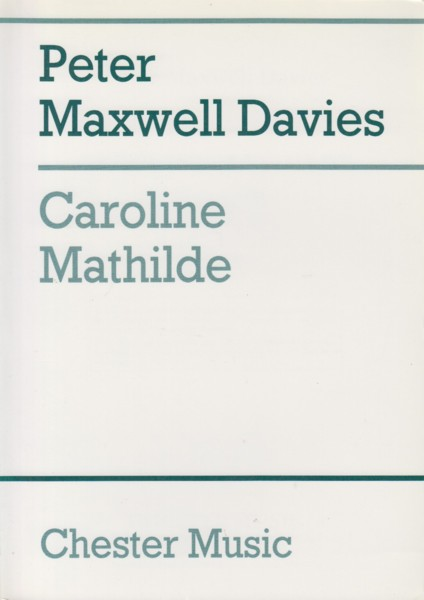 Image for Caroline Mathilde, Ballet in Two Acts - 4to Study Score