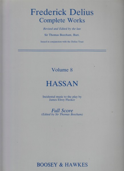 Image for Hassan, Incidental Music - Full Score