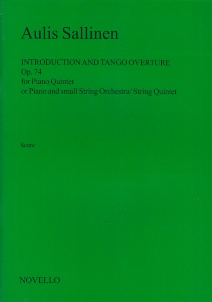 Image for Introduction and Tango Overture, Op.74 - Full Score