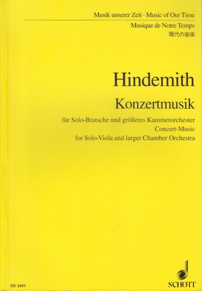 Image for Konzertmusik for Solo Viola and Chamber Orchestra - Study Score