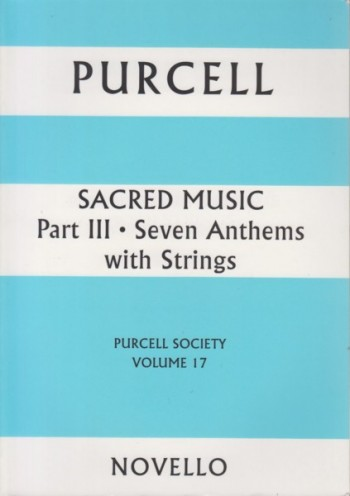 Image for Sacred Music Part III: Seven Anthems with Strings -  Full Score