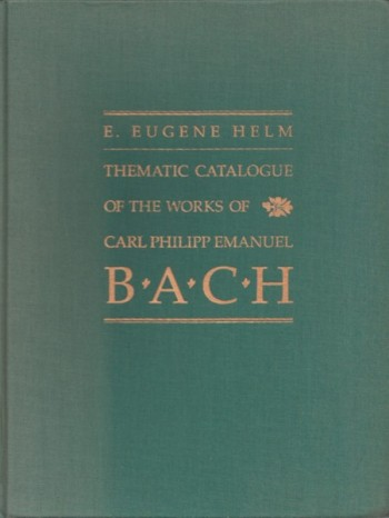 Image for Thematic Catalogue of the Works of Carl Philipp Emanuel Bach