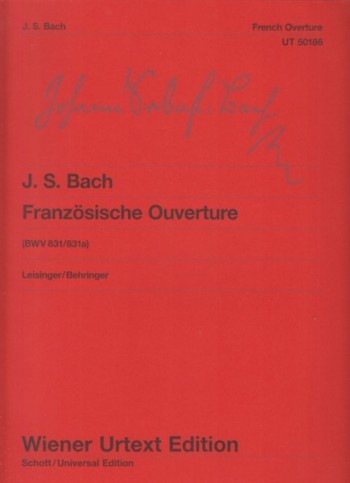 Image for French Overture BWV 831/831a
