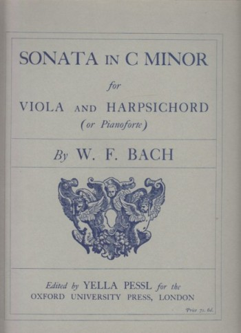 Image for Sonata for Viola and Harpsichord (or Pianoforte) in c minor