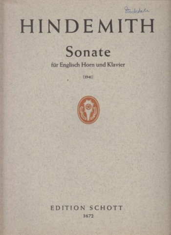Image for Sonata for Cor Anglais and Piano (1941)