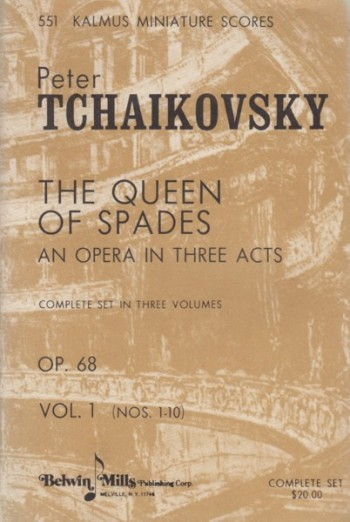 Image for The Queen of Spades (Pique Dame), Opera in Three Acts, Op.68 - Study Score
