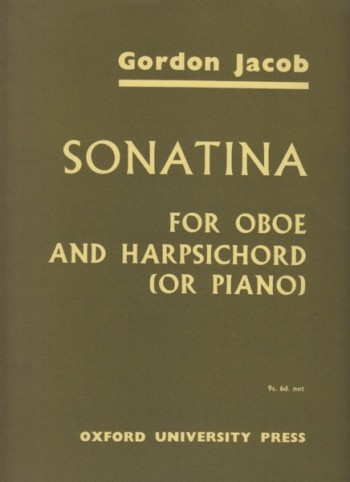 Image for Sonatina for Oboe and Harpsichord (or Piano)