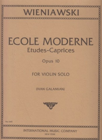 Image for Ecole Moderne, 10 Etudes-Caprices, Op.10 for Violin