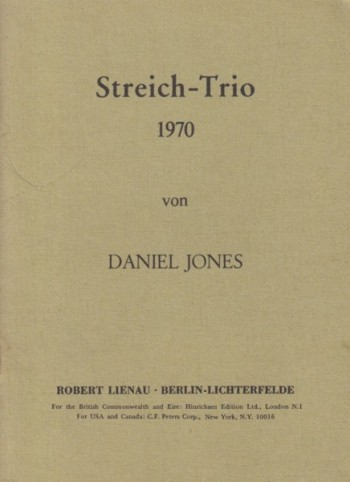 Image for String Trio (1970) - Study Score