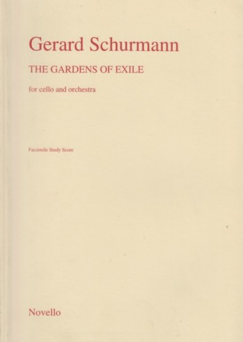 Image for The Gardens of Exile for Cello and Orchestra - Study Score