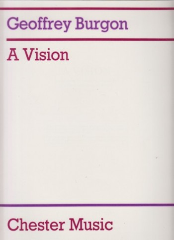 Image for A Vision . Seven Songs to poems by John Clare for Tenor and String Orchestra - Full Score