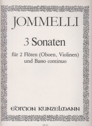 Image for 3 Sonatas for 2 Flutes (or Oboes or Violins) and Basso Continuo - Set of Parts