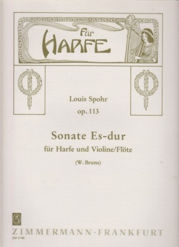 Image for Sonata in E flat major, Op.113 for Violin or Flute and Harp