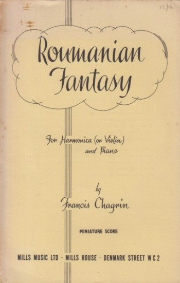 Image for Roumanian Fantasy for Harmonica (or Violin) and Orchestra - Study Score