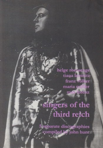 Image for Singers of the Third Reich - 5 Discographies