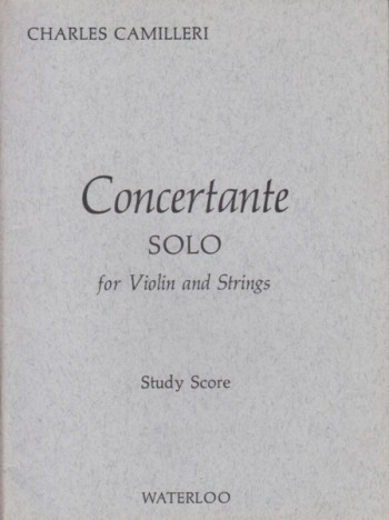 Image for Concertante, Solo for Violin and Strings - Study Score