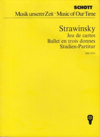 Image for Jeu de cartes, Ballet in 3 Deals - Study Score