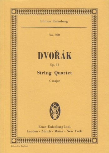 Image for String Quartet in C major, Op.61 - Study Score