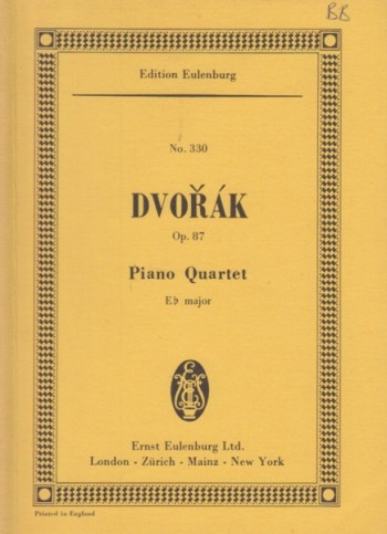 Image for Piano Quartet in E flat major, Op.87 - Study Score