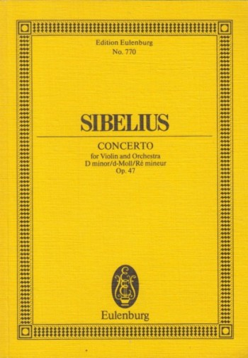 Image for Violin Concerto in d minor, Op.47 - Study Score