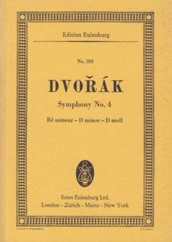 Image for Symphony No.4 in d minor, Op.13 - Study Score