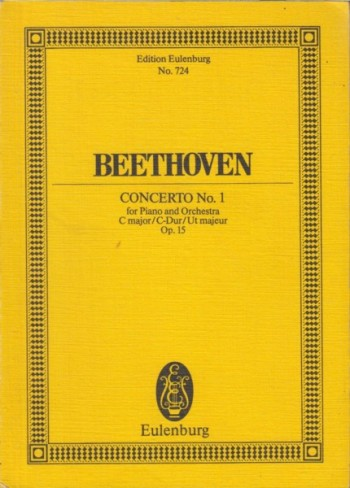 Image for Piano Concerto No.1 in C major, Op.15 - Study Score