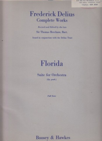 Image for Florida, Suite for Orchestra (Op. posth) - Full Score