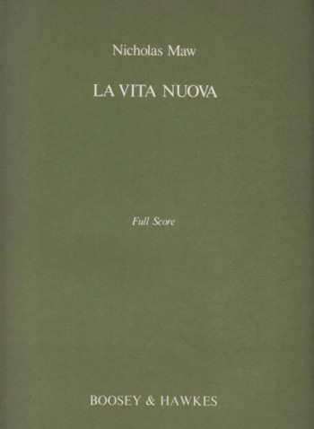Image for La Vita Nuova for Soprano and Chamber Ensemble - Full Score