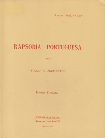 Image for Rapsodia Portuguesa for Piano and Orchestra - Study Score