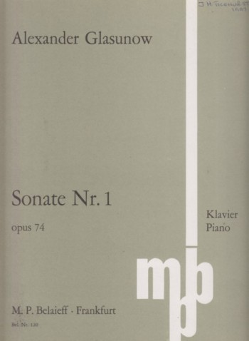Image for Piano Sonata No.1, Op.74