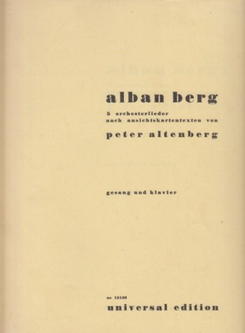 Image for Five Orchestral Songs after postcard texts by Peter Altenberg, Op.4 - Voice & Piano