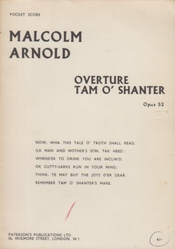 Image for Overture Tam O'Shanter, Op.52 - Study Score