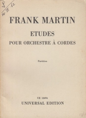 Image for Etudes for String Orchestra - Study Score